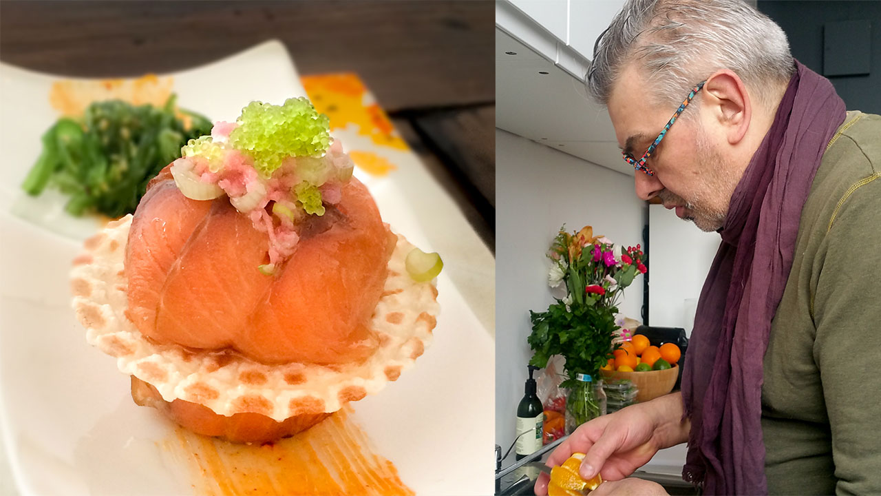 Chef JP Challet Recipe French Cuisine Salmon Macaron