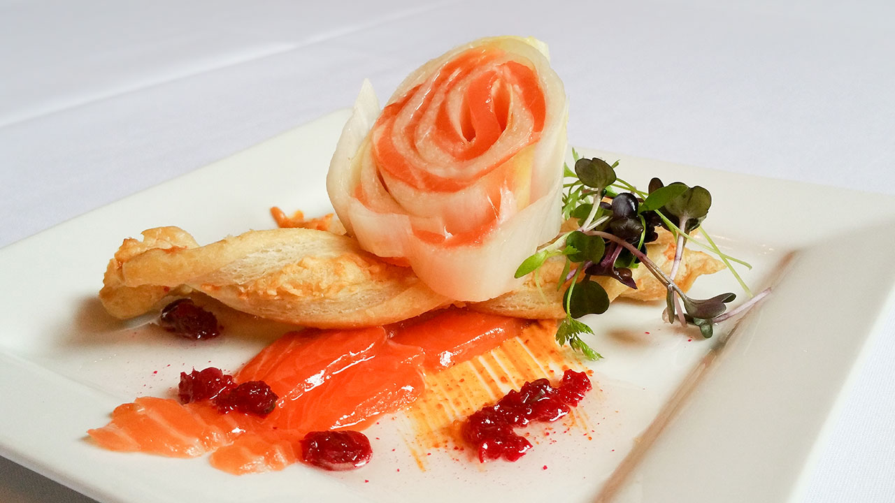 French Recipe Smoked Salmon Endive Roulade by Chef JP Challet